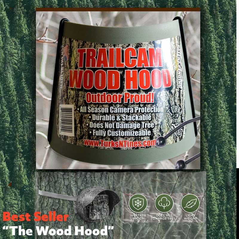 """Wood Hood"" Trail Camera Accessory - Turks N Tines"